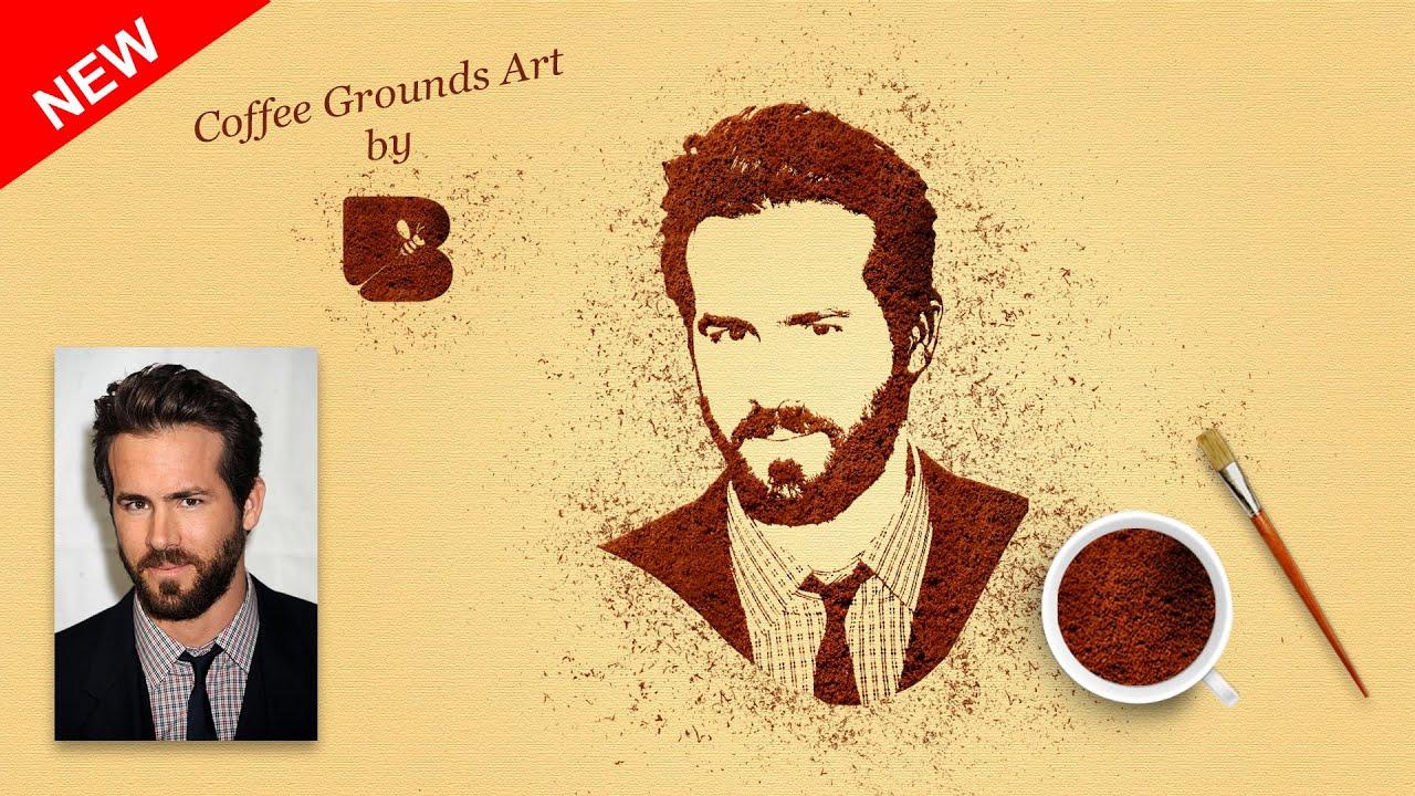 Photoshop tutorial coffee ground art effect portrait into easy photoshop tutorial coffee ground art effect portrait into easy coffee powder art editing 2016 youtube baditri Gallery