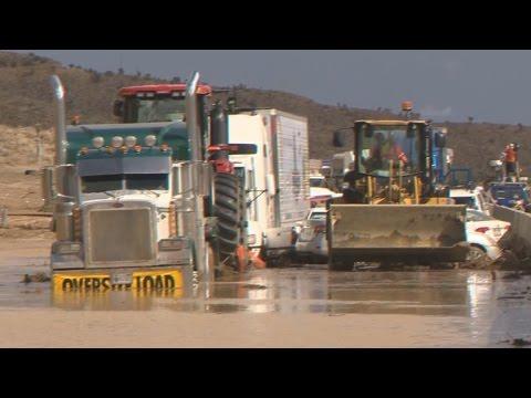 Mudslide buries Calif. highway