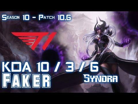 T1 Faker SYNDRA Vs EKKO Mid - Patch 10.6 KR Ranked