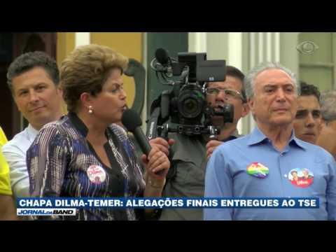 Chapa Dilma-Temer: alegações finais são entregues ao TSE