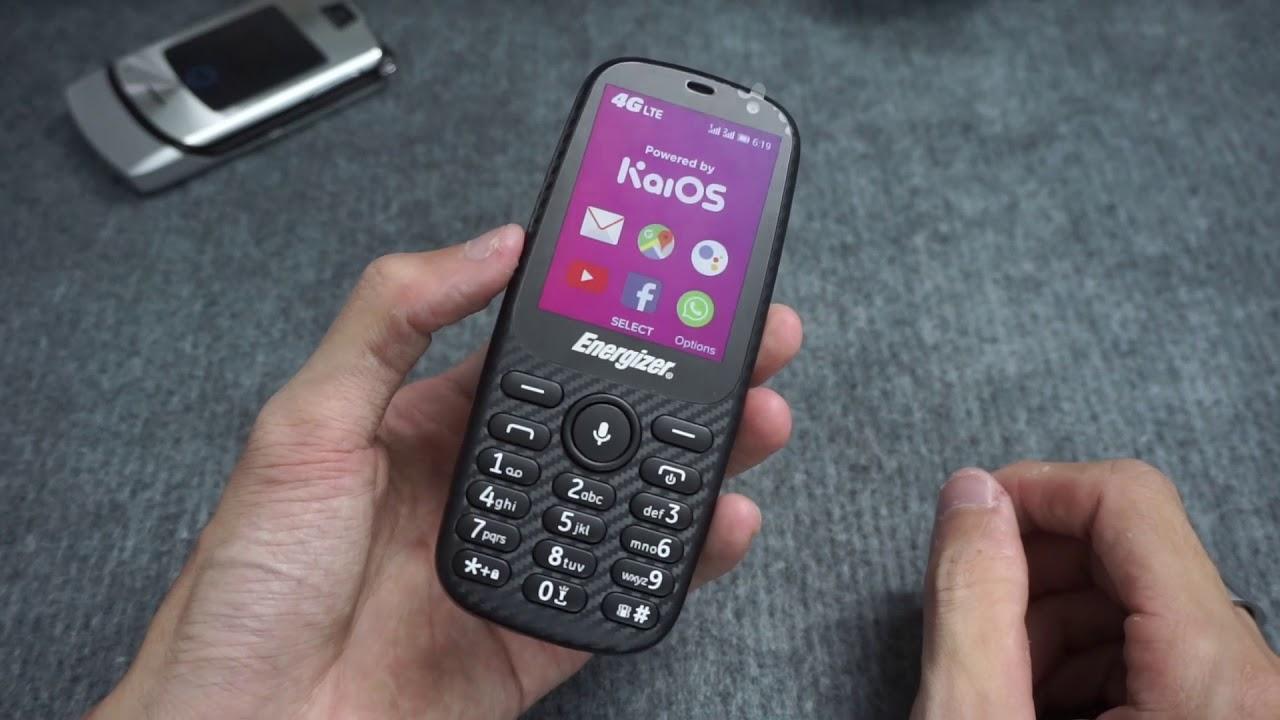 """""""Smartphone cục gạch"""" xịn nhất của Energizer - Có Wifi, 4G LTE, chạy KaiOS"""