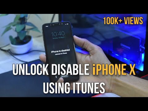 How To Unlock Disabled IPhone X Via ITunes