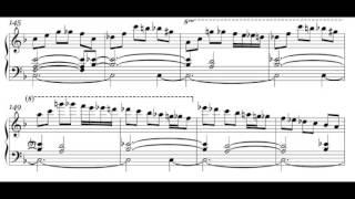 Bill Evans plays Midnight Mood (1969) + my transcribed score
