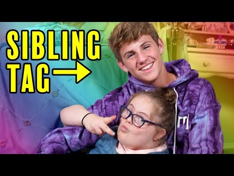 The Sibling Tag! MattyBRaps vs Sarah Grace