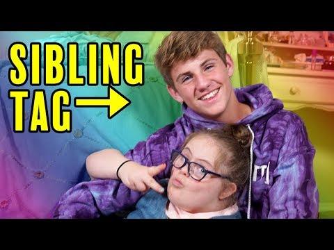 The Sibling Tag! (MattyBRaps vs Sarah Grace)