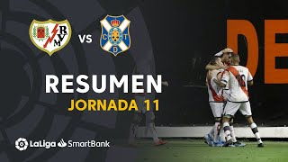Resumen de Rayo Vallecano vs CD Tenerife (2-1)