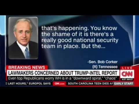 Sen Bob Corker R They WH are in downward spiral right now lack of discipline   creates a worrisome e