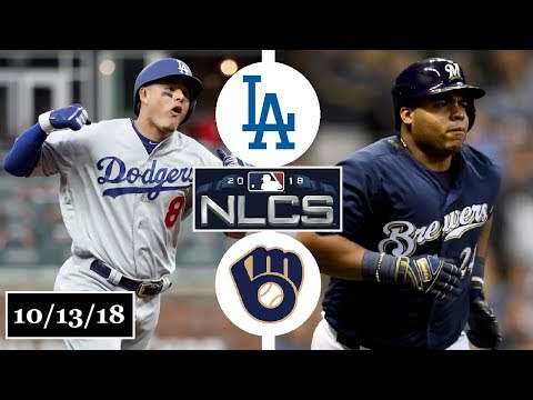 Los Angeles Dodgers vs Milwaukee Brewers Highlights || NLCS Game 2 || October 13, 2018