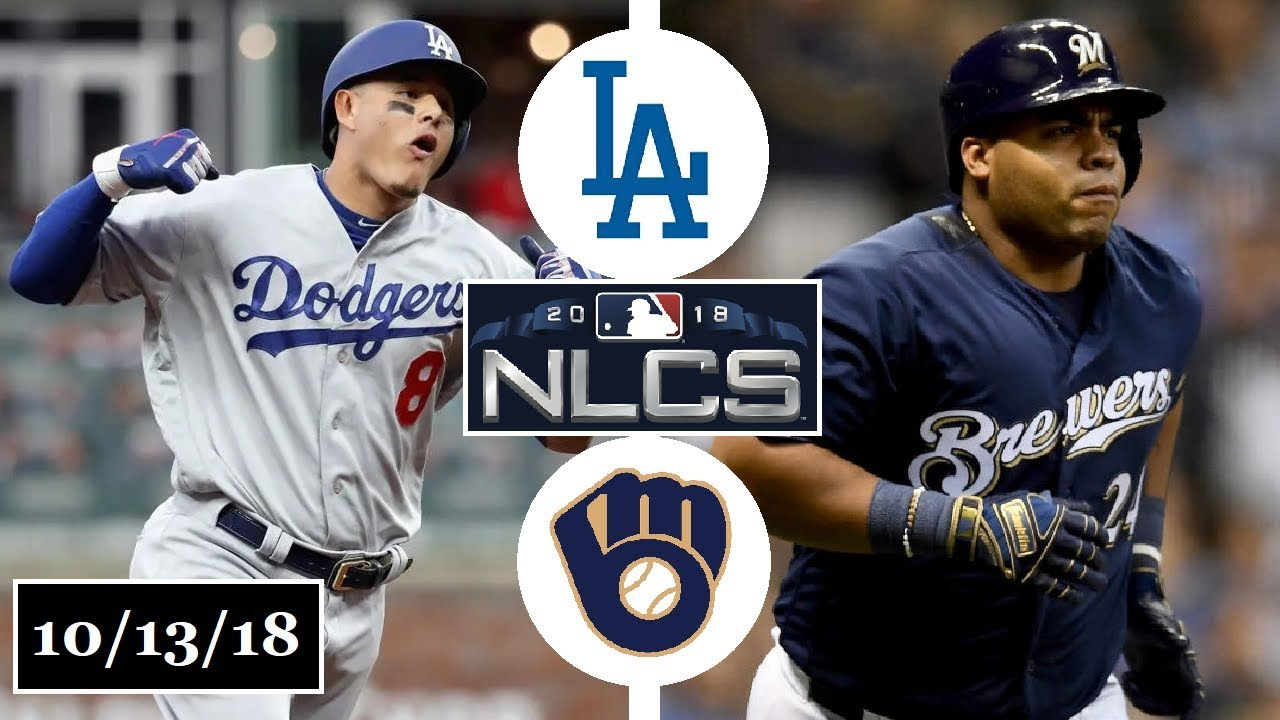 on sale 37fd2 c0d67 Los Angeles Dodgers vs Milwaukee Brewers Highlights || NLCS Game 2 ||  October 13, 2018