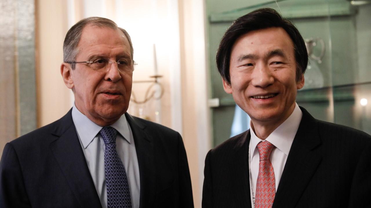 С.Лавров и глава МИД Южной Кореи | Sergey Lavrov & South Korean FM Yun Byung-se