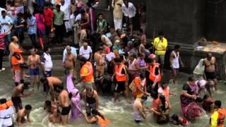 Pilgrims throng banks of Godavari River for