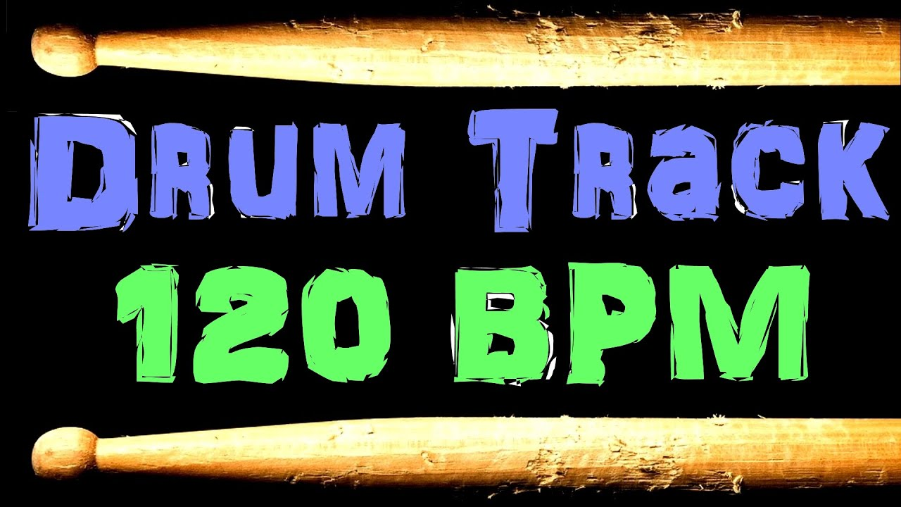 Drum Track 120 BPM Bass Guitar Backing Jam Beat Drum Loop #41