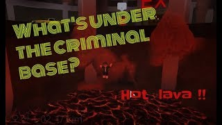 WHAT IS UNDER THE CRIMINAL BASE IN JAILBREAK? -ROBLOX LEE PLAYZ