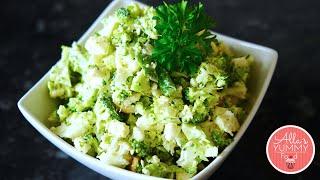 Broccoli Cauliflower Salad - Anti Aging Salad Recipe - Салат из брокколи и цветной капусты
