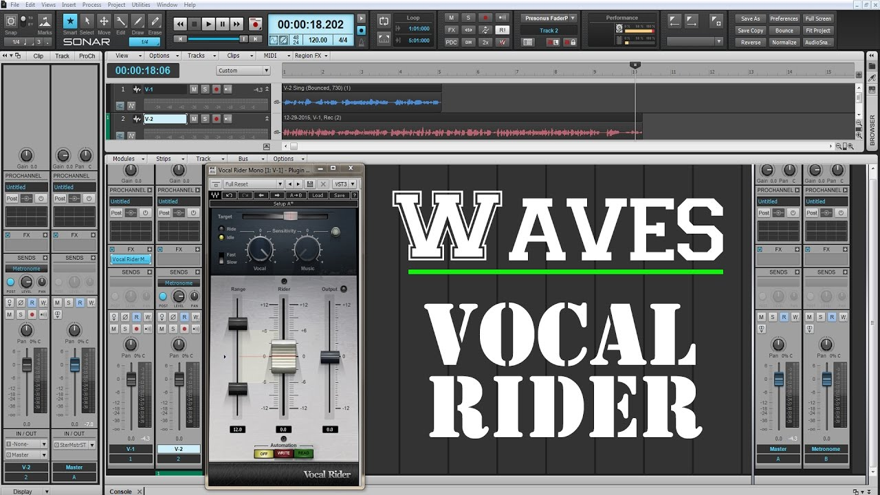 The Best Plugins For Vocals - WAVES Vocal Rider