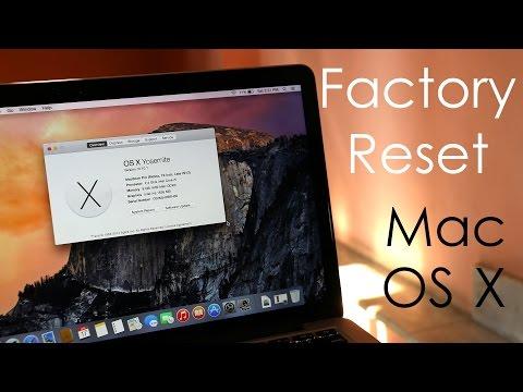 How to : Factory Reset / Hard Reset your MacBook (OS X Yosemite)