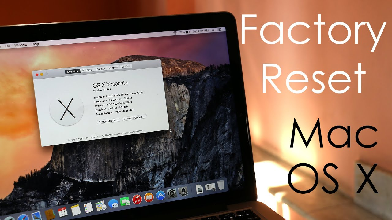 How to : Factory Reset / Hard Reset Your MacBook Pro & Air