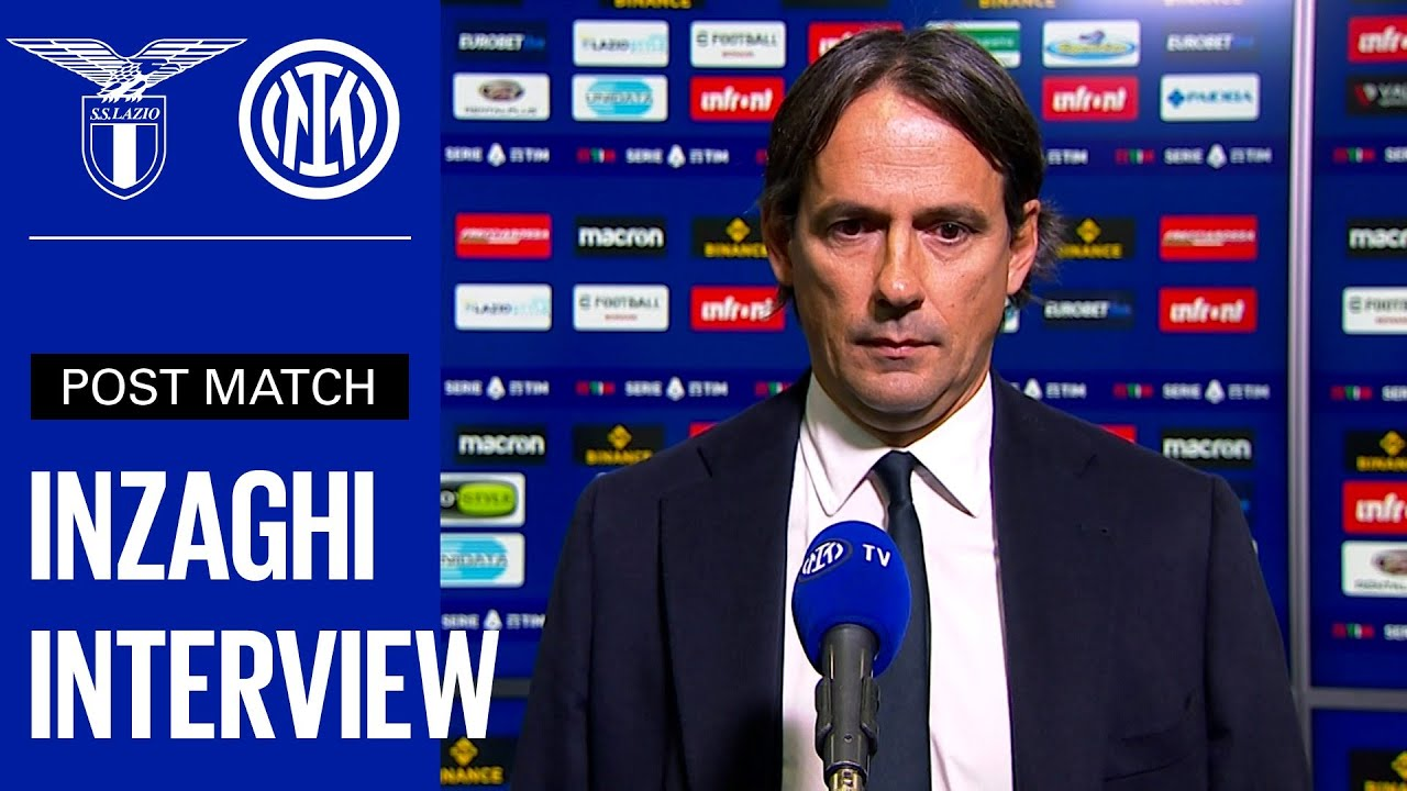 Download LAZIO 3-1 INTER   SIMONE INZAGHI EXCLUSIVE INTERVIEW [SUB ENG] 🎙️⚫🔵