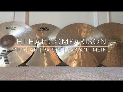 "15"" Hi Hat Comparison - Zildjian K Sweet   Paiste 602   Sabian HHX Legacy   Meinl Byzance Foundry"