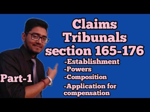claims tribunal under motor vehicle act 1988,establishment, compositions,application fr compensation