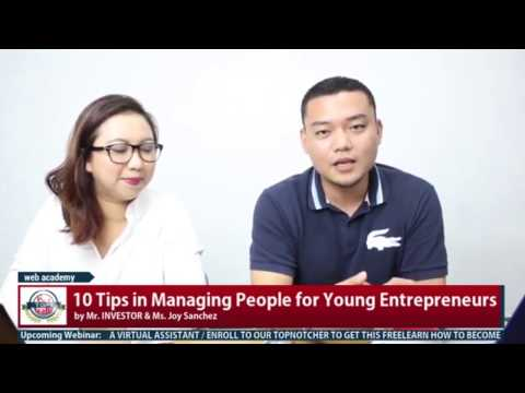 10 Tips on Managing People for Young Entrepreneur