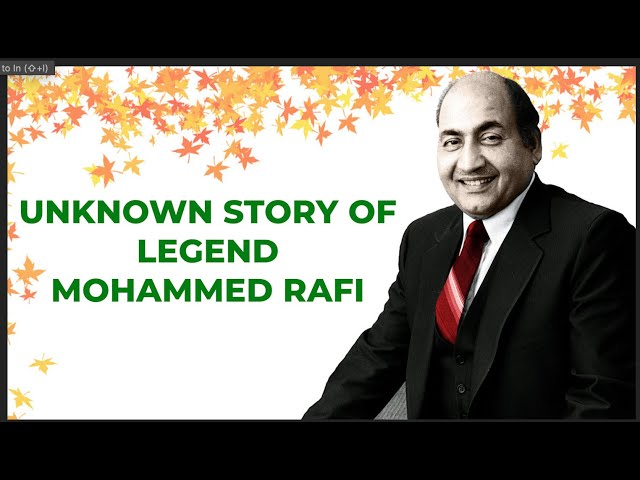 Legendary Mohammed Rafi: The Unknown Story  | Reel Nahin Real Stories