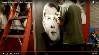 """Dracula"" Bela Lugosi Portrait Time Lapse"