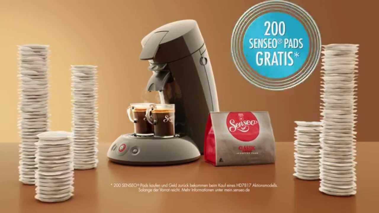 senseo tv spot 200 senseo pads gratis cappuccino. Black Bedroom Furniture Sets. Home Design Ideas