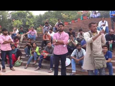 JNUSU Joint Secretary Tabrez Hassan takes on Bring Back Najeeb Issue  at JNU Ad Block