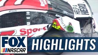 AJ Allmendinger Clips Wrecking Erik Jones | 2017 BRISTOL | FOX NASCAR