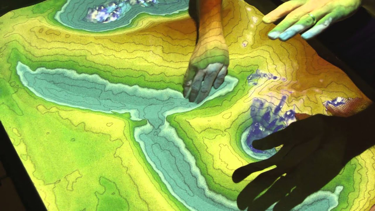 3d Hologram Wallpaper Gif Ucla S Augmented Reality Sandbox Youtube