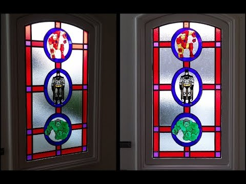 Glass Painted Door Project (Faux Stained Glass).
