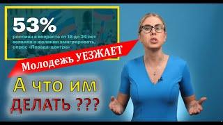 Молодежь хочет уехать из России  Любовь соболь