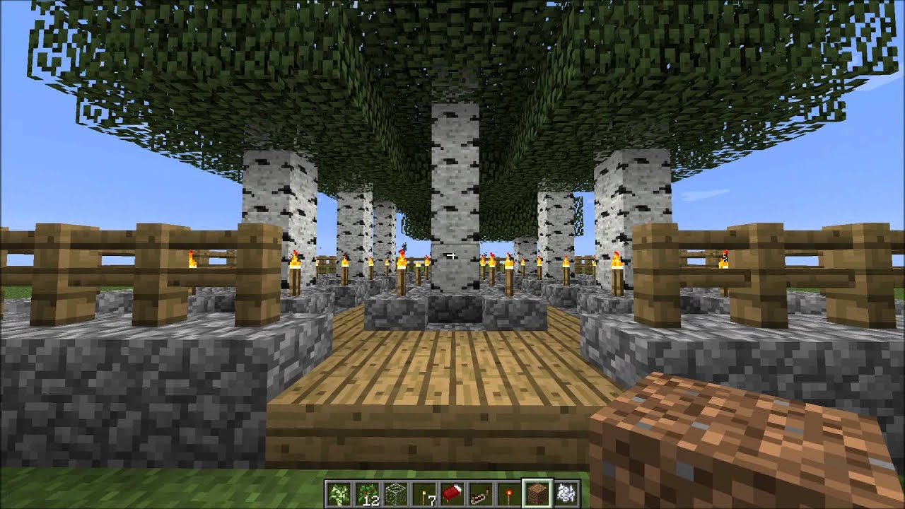 Minecraft efficient and easy to use tree farm designs wdownload