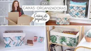 DIY Caixas Organizadoras de Papelão