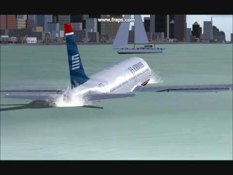 US Airways Airbus A320 Flt 1549 Hudson River Landing FS2004