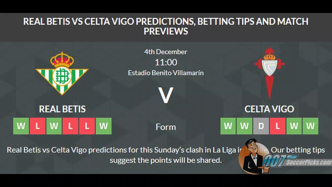Real betis vs celta vigo betting tips binary options trading strategy 2021 military