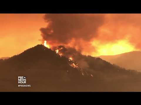 Late-season wildfire scorches tinder-dry Oregon