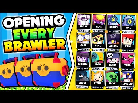 UNLOCKING & MAXING EVERY BRAWLER IN BRAWL STARS! HUGE 20000 GEM MEGA BOX OPENING!