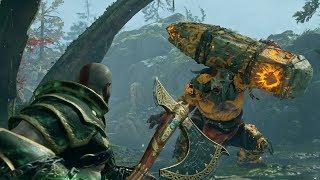 God of War NEW GAME PLUS: Fire Troll Boss Fight