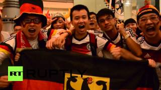 China: Fans gather in Shanghai to cheer on Germany