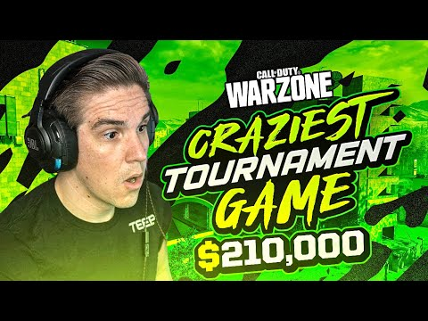 HOW WE CLUTCHED A $210,000 WARZONE TOURNAMENT! INSANE GAME! (Warzone)
