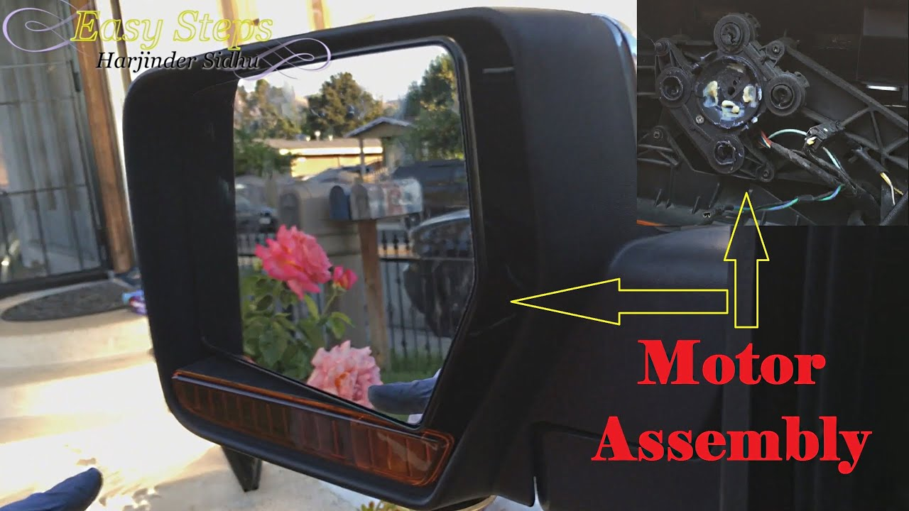Replace left driver flat mirror glass assembly motor on for Power mirror motor repair