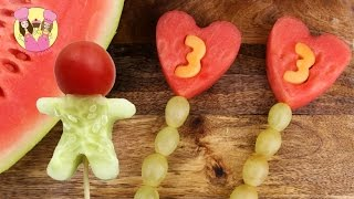 BIRTHDAY FRUIT POPS & VEGGIE MEN -  2 Healthy Recipes By Charli's Crafty Kitchen