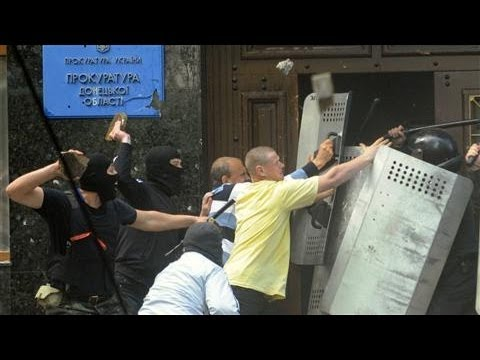 Pro-Russian Protesters Storm Building in Ukraine
