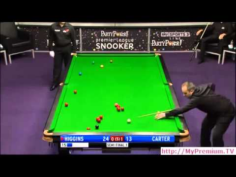 Snooker - 2011 Premier League - Week09 - Match01 - Higgins v Carter