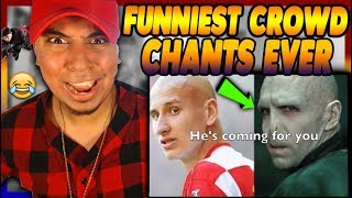 AMERICAN HEARS TOP 10 FUNNY ENGLISH FOOTBALL CROWD CHANTS Reaction Manchester Arsenal skills goals