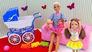 Подменили Детей, Робот Готовит Малышек к Экзамену по Математике Мультик #Барби Куклы Игрушки