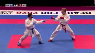Rafael Aghayev vs René Smaal. Final Kumite Male -75kg. 48th European Karate Championships