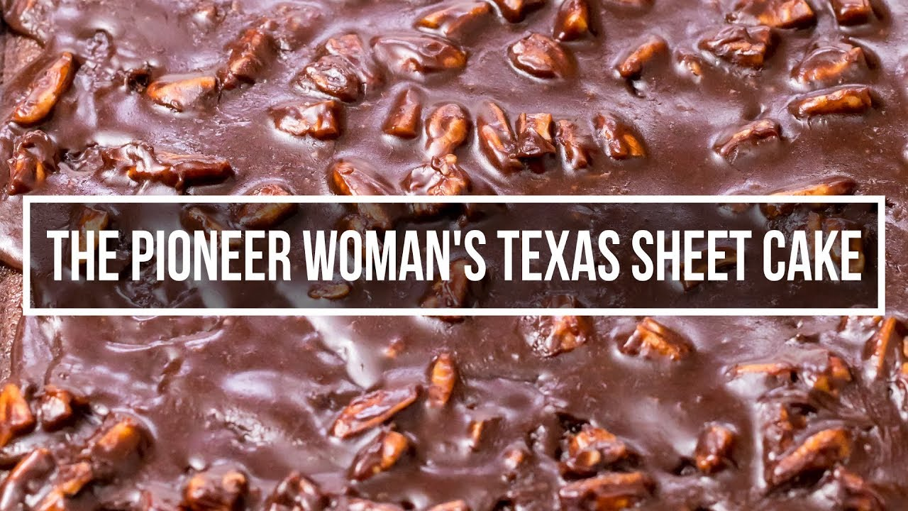Texas Sheet Cake Inspired By The Pioneer Woman S Best Chocolate Sheet Cake Ever